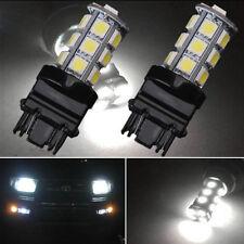 2X 6K HID White 18-SMD LED Daytime Running Light Bulbs 3156 3157 3757 4114 4157