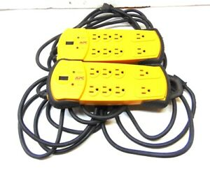 APC SURGE PROTECTOR OUTLET STRIP, PDIY8, 8 OUTLETS, 15 AMPS, 120 VAC, LOT OF 2