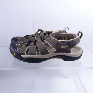 Size 13 Men's KEEN Newport H2 Fisherman Sandals 1008399 Raven/Aluminium