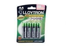 Lloytron B011 4 x NIMH AccuUltra High Capacity Rechargeable AA Batteries 800mAh