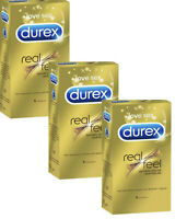 Durex Real Feel Latex Free Natural Skin On Skin Feeling 18 Pack Condoms RealFeel