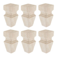 """6x Solid Wood Sofa Legs Unfinished Furniture Feet for Couch Bench 2""""x2""""x4"""""""