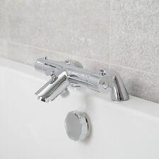 Modern Bathroom Thermostatic Bath Shower Mixer Valve Chrome Tap Deck Mounted