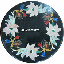 "18"" Marble Coffee Table Top Collectible Mosaic Inlay Patio Furniture Decor"