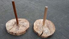 32cm Holz Didgeridoo Ständer dicke Baumscheibe Australien Style