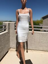 Factory Sample Herve Leger Nanette Multi-Crochet Stitch Dress