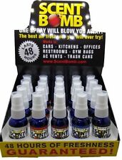 Scent Bomb 1 oz 100% Concentrated Air Freshener Display 20 Bottles (5 Scents)