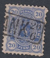 FINLAND :1875 20p deep ultramarine SG74 used