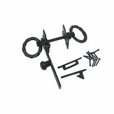 Nuvo Iron Antique Look Colonial Ring Latch Designed for Wood Gates, Doors -Black