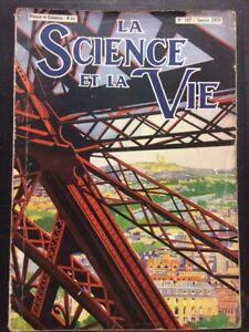 Revue La science et La Vie N°187 de 1933 - GUSTAVE EIFFEL   ca124