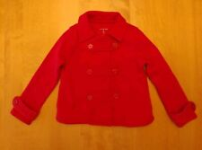 Lands End Girls Red Knit Pea Coat Lightweight Jacket - Size 4