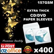 Premium Quality 400 X CD DVD Thick Paper Sleeve Envelope 157gsm Clear Window
