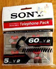 SONY MICROCASSETTE TELEPHONE PACK of 4 2MC60/2MC5 Vintage Sealed Japan FREE SHIP