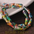 New 10pcs 16X8mm Pagoda Shape Faceted Loose Glass Beads Pendants Green Colorful