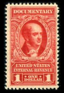 R667 REVENUE Documentary $1 Red LATE ISSUE Woodbury Full Gum MNH SEE PHOTO X-471