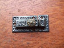"Antique Fancy Victorian Iron Cabinet Latch c1885 by Penn ""Floral"""