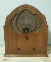 Vintage Philco Model 50 Cathedral Radio 1930's Decent  Working Condition
