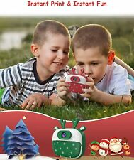 Green Dragon Touch Instant Camera For Kids, 2 inch 1080P Digital Print Camera