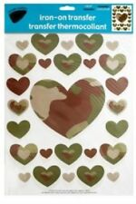 New listing Camouflage Hearts Design: Iron-on Heat Transfers for Fabric/Clothing Decoration