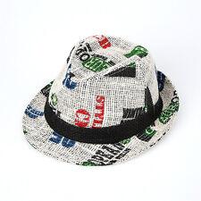 """Men Women Summer Beach Fedora Hat For Unisex w/Linen """"Korean Seller"""" Ivory Color"""