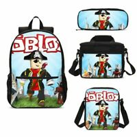 Anime Roblox Print Kids School Backpack Set Lunch Bags Sling Bag Pen Case Lot