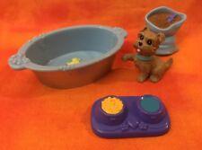 Fisher Price Loving Family Dollhouse Pet Dog Cat Bath Tub Duck Bottom