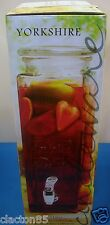 2.3 LITRE 230ML TALL GLASS DRINKS  WINE PUNCH LEMONADE JUICE JAR TAP DISPENSER