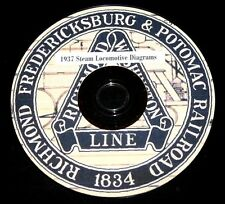 Richmond, Fredericksburg & Potomac Railroad 1937 Steam  Diagram PDF Pages on DVD