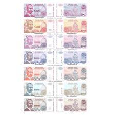 More details for bosnia & herzegovina 5000 - 500 million dinara 1993 set of 7 banknotes 7 pcs unc