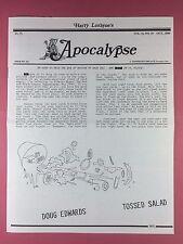 Harry Lorayne's APOCALYPSE - Magicians Newsletter  Vol.13 / No.10 - 1990 - Magic