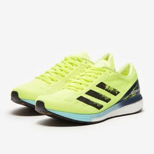 Adidas Adizero Boston 9 BOOST Running Shoes Solar Yellow H68740 Mens Size 10