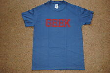 GEEK DISTRESSED LOGO BLUE MENS T SHIRT M NEW OFFICIAL X BRAND FUN PARTY HOLIDAY