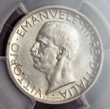 1930, Kingdom of Italy, Victor Emmanuel III. Silver 5 Lire Coin. PCGS MS-63!