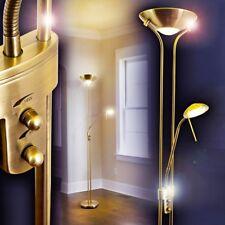 Lampada da Terra Piantana a Stelo Luce LED Dimmer Spot Lettura Salotto Ottone