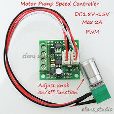 DC1.8V 3V 5V 6V 12V 2A PWM DC Motor Speed Controller Regulator Switch Adjustable