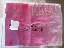 Swat 100% Cashmere Ombre Pink Shawl/Scarf New
