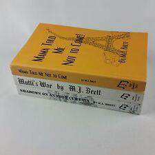 Lot of 3 M. J. Brett Books Mutti's War, Shadows on an Iron Curtain, Mama Told Me