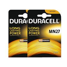 2 x Duracell A27 12V Alkaline Batteries 8LR732, A27, MN27, A27BP, G27A, L828