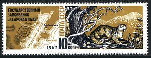 Russia 3379, MNH. Far Eastern Cedar Valley Reservation. Snow Leopard, 1967