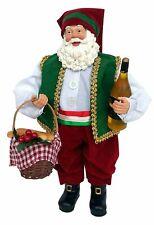 "NEW! Christmas,Collectible,SANTA'S Workshop Italien Santa,Winebottle, 12"" high"