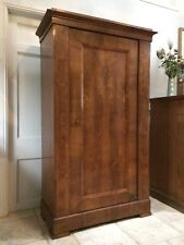 Handsome Antique French Walnut Armoire Wardrobe Hall Cupboard