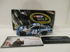 JIMMIE JOHNSON & KNAUS . signed 2015 .. LOWE'S .. DAYTONA DUEL WIN .. 1/24 CAR
