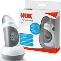 NUK 3in1 Infrarot Stirnthermometer + Ohr Fieberthermometer Baby + Erwachsene