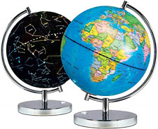 2 in 1 Illuminated World Globe For Kids - Light Up Night View Science