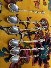 (sterling ) Silver 800 Espresso Spoon X 6 Italy