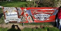 2010 Sturgis 70th Anniversary Motorcycle Rally Budweiser Harley Banner 9.5' x 3'