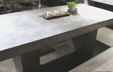 Solid Concrete Dining Table Desk Pedestal Modern Industrial indoor/outdoor