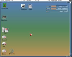 Amiga 1200 16GB CF KS3.1 Card Only Whdload 18.5 + Giochi> OS 3.1 ClassicAGA GAME