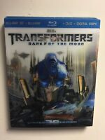 Transformers:Dark of the Moon (Blu-ray/DVD, 2012, 3D) NEW w/lenticular slipcover
