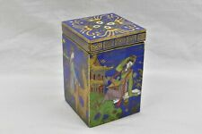 Antique Cloisonne Trinket Box China Bronze Gold Detail Chinese Japanese Signed